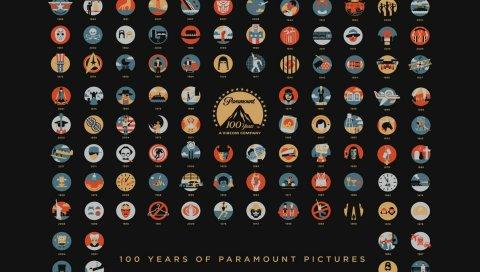 фильмов, 100 -летний юбилей, логотипы