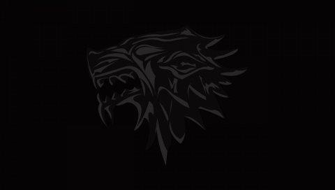 дом разительной, игра престолов, логотип, эмблемы, волк