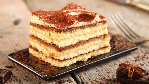 Торт, специи, сливки, торт, печенье, шоколад