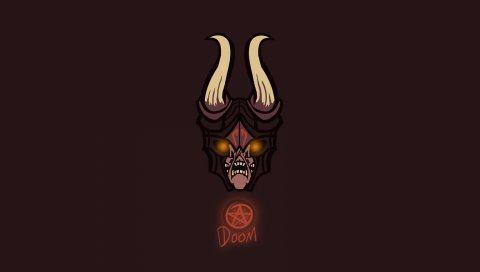Doom, dota 2, art