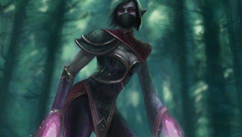 Ланайа, темплар-убийца, дота 2, искусство