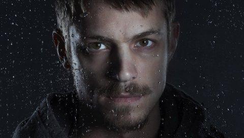Joel kinnaman, актер, человек, мужчина, капля, усы, борода