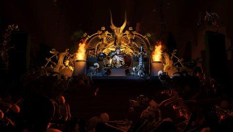 Империя кости, скелет-король, дота 2, 3d, искусство