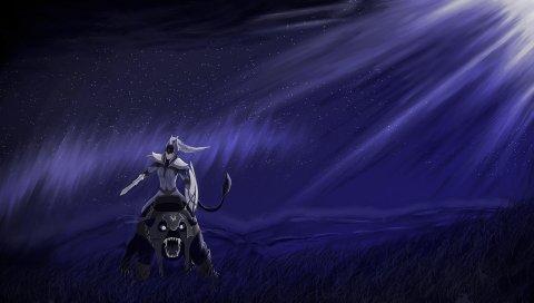 Затмение, луна, дота 2, всадник луны
