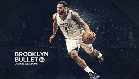 Deron williams, brooklyn, point guard, баскетбол, игрок, защитник, спорт, мяч