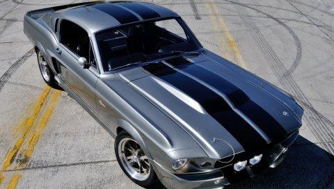 Gt500, eleanor, автомобиль, ford, mustang, спереди