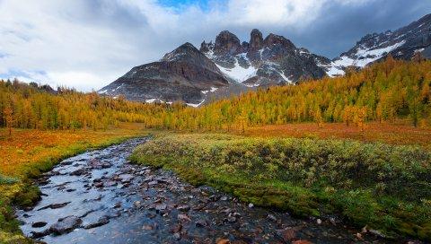 камни, горы, красивые пейзажи, деревья, осень