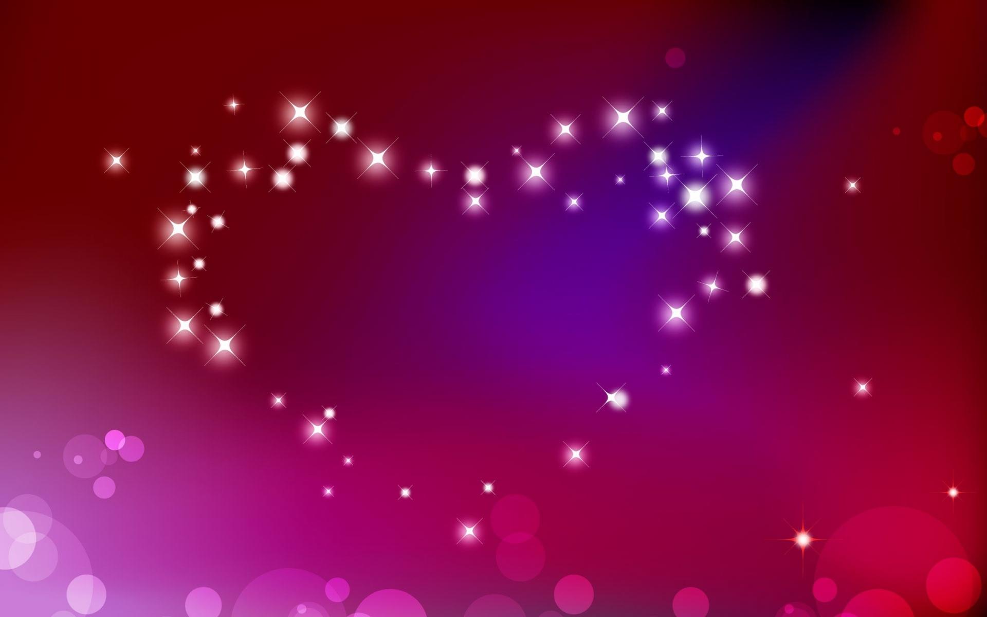 Картинки сердце, абстракция, яркий свет, блеск фото и обои на рабочий стол