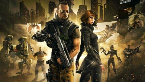 Deus Ex осенью, Deus Ex, киберпанк действие ролевой стелс, видеоигры, эйдос монреаль, н-фьюжн