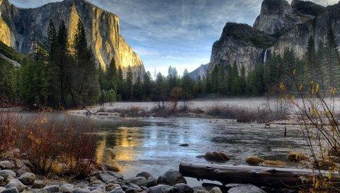 пейзаж, горы, реки