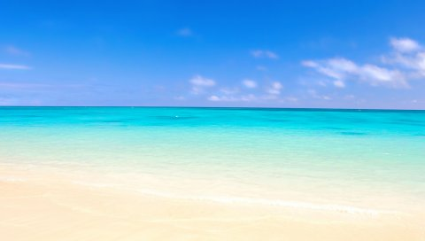 океан, песок, пляж