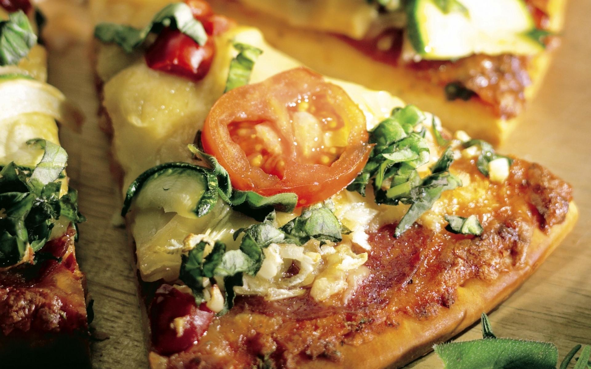 Картинки пицца, овощи, помидоры, вкусный сыр фото и обои на рабочий стол