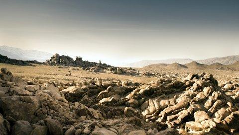 камни, расстояние, песок