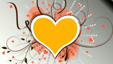Сердце, узоры, красочные