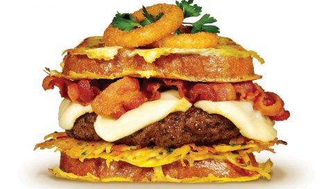 Сэндвич, еда, мясо