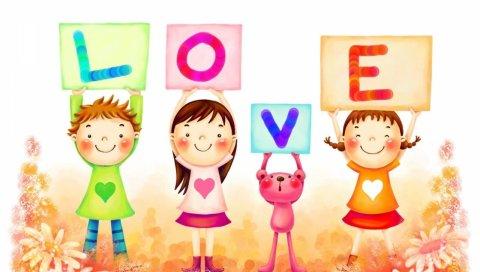 знаки, буквы, любовь, рисунок