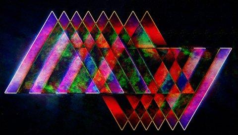 формы, фон, яркое, разноцветное