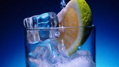 известь, пить, лед, цитрусовые