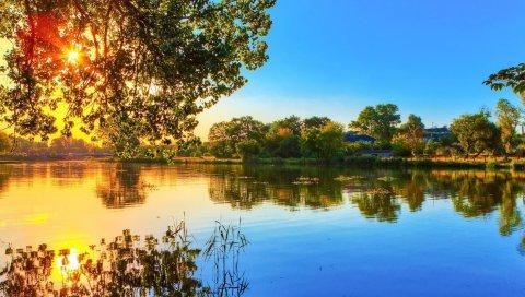 Природа, река, свет,