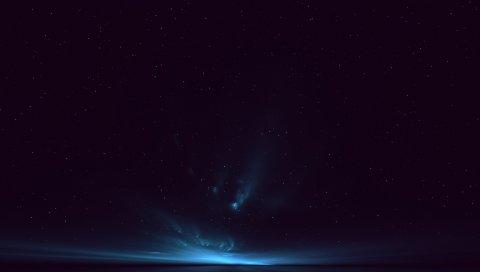 Свет, небо, звезды, фон