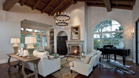 Дизайн камина, дизайн интерьера, стиль, комната, дом-замок