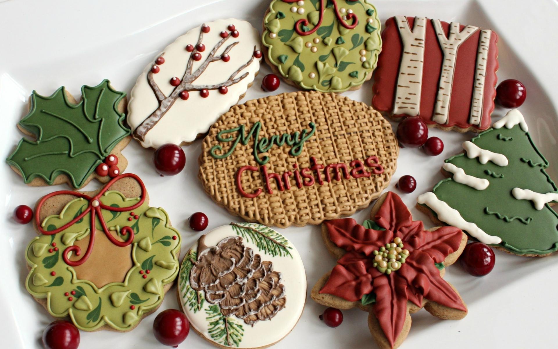 Картинки Праздник, печенье, сладости, угощения, новый год, настроение фото и обои на рабочий стол