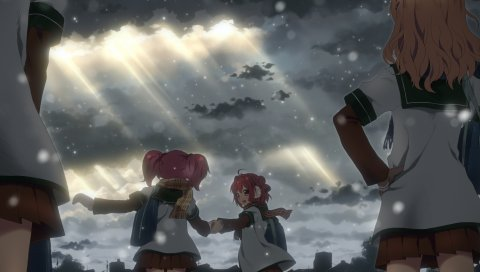 Yuru yuri, девушки, аниме