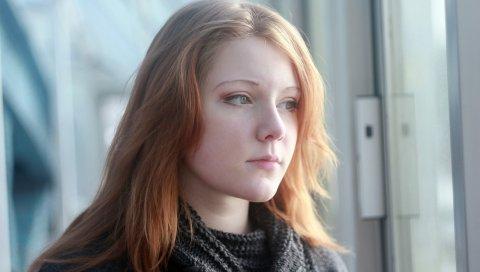 Девушка, взгляд, грусть, задумчивость, его лицо
