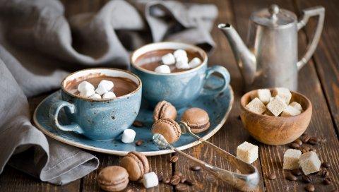 Кофе, печенье, сахар