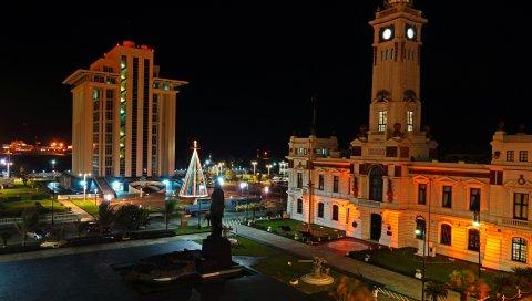 Mexico, veracruz, ночной город, здание