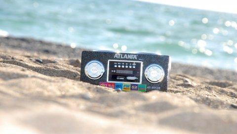 лента, песок, пляж