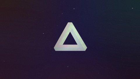 треугольник, форма, свет, темные