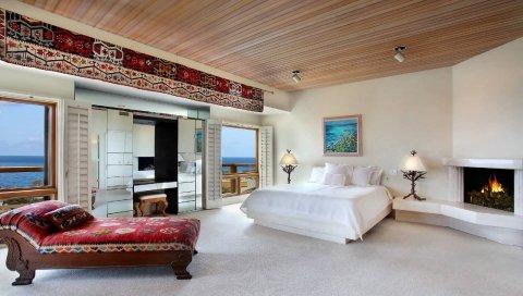 Комната, мебель, стиль, комфорт, красивый, интерьер