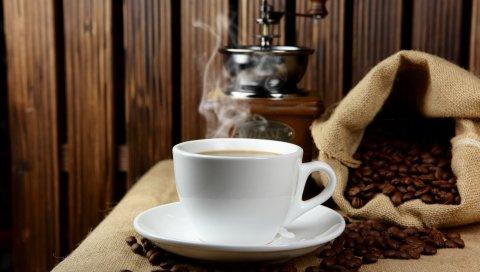 чашка, пена, кофе