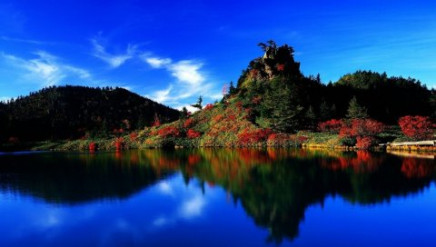 япония, небо, красивые, пейзажи