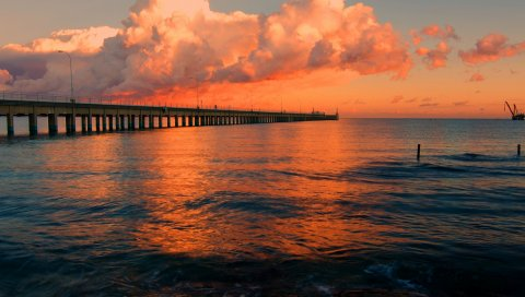 море, солнце, облако