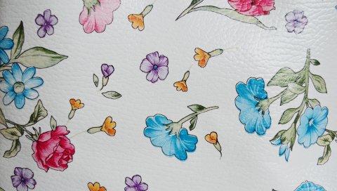 текстура, кожа, цветы