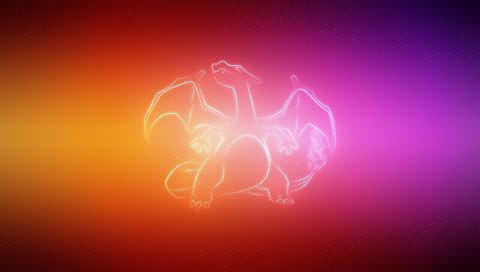 дракон, крыла, покемон, Чаризард
