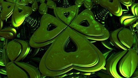 Фигура, форма, зеленый, металл