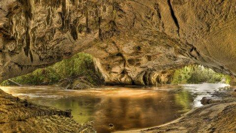 Национальный парк Кахуранги, камея, новая зеландия, река, пещера