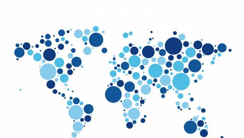 мир, карта, круги, белый фон