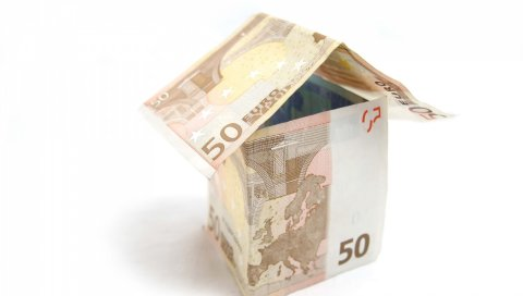 деньги, евро, дом