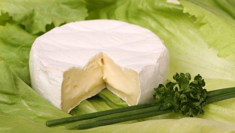 Сыр, салат, зелень