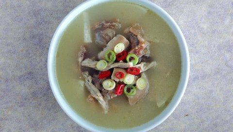 Суп, морепродукты, травы, топ, жир