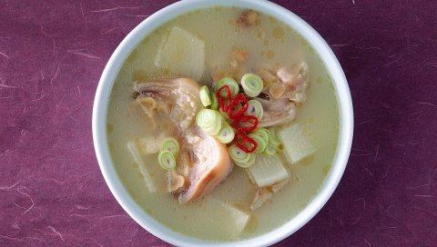 Суп, масло, морепродукты, топ