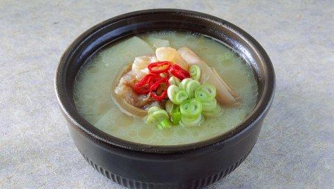 Суп, жир, зелень