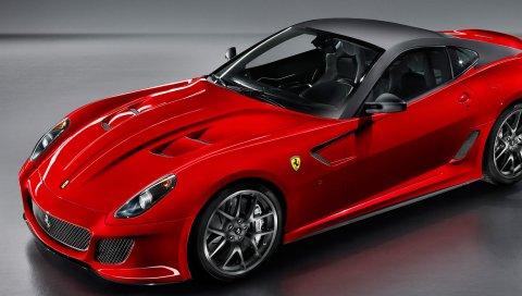 красный, автомобиль, спортивный, ездить,феррари