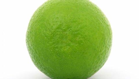 EMON, белый фон, фрукты, лайм