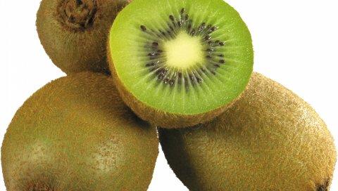 киви, белый фон,фрукты
