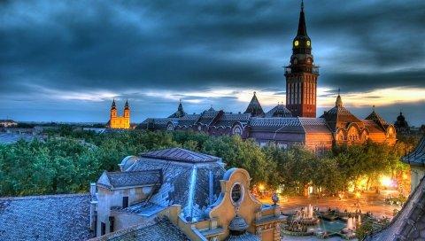 сербия, Балканы, красота, дом, церковь, собор, площадь, фонтан